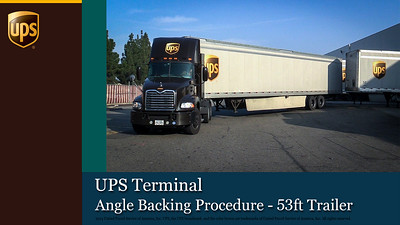 UPS Terminal Angle Backing Procedure - 53ft Trailer