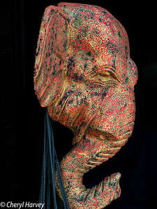 Pottery Elephant Face