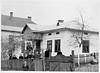 Торське. 1956. Великдень. Родина Стасюків біля хати Івана Стасюка
