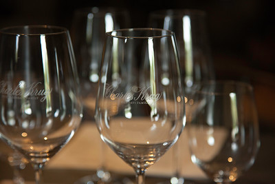Charles Krug winery glasses