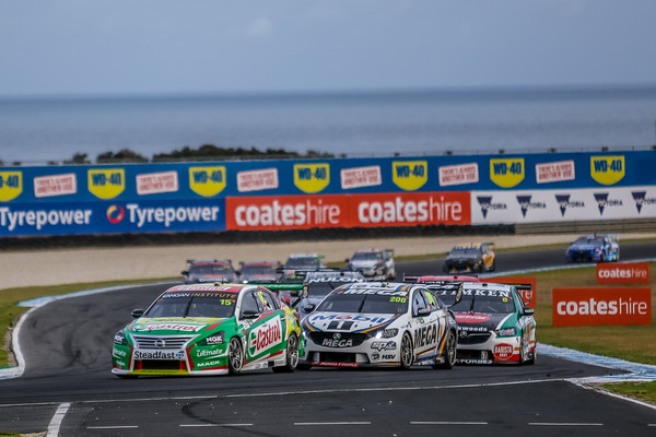 Virgin Australian Supercars Championship WD40 Phillip Island 500 track action from Practice / QF and racing for races Eight and Nine of the supercars championship.