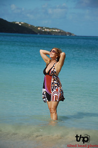 Liza enjoying the fantastic weather on St. Thomas Island