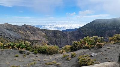 Irazu Volcano Crater in Cartago, Costa Rica