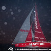 June 19, 2015. Arrivals to the Pitstop in The Hague during Leg 9 to Gothenburg. MAPFRE, third to arrive.