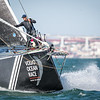 SHK Scallywag practicing in Lisbon, part of their preparation for the Volvo Ocean Race 2017/2018