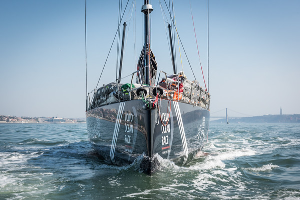 Sun Hung Kai Scallywag at the Prologue Race, part of their preparation for the Volvo Ocean Race 2017-18