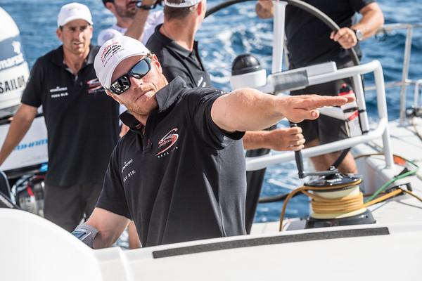 Sun Hung Kai Scallywag during the Practice Race, part of the Volvo Ocean Race 2017-18