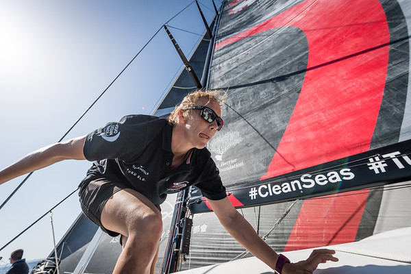 Sun Hung Kai Scallywag during the Practice Race, part of the Volvo Ocean Race 2017-18