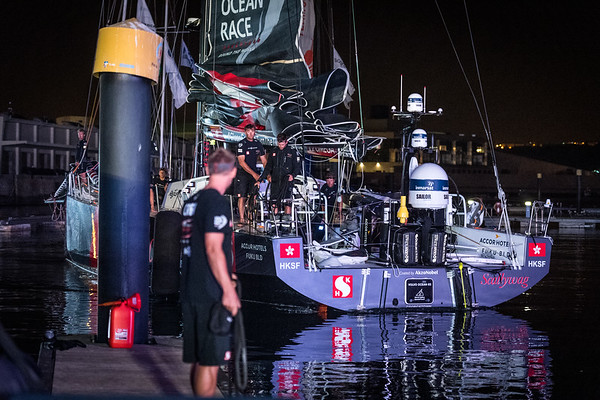 Sun Hung Kai Scallywag in Lisbon, part of the Volvo Ocean Race 2017-18
