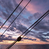 Sunset on board of tall ship Europa, Near Cape Horn, 2015