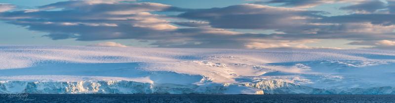 Morning light on glaciers, South Shetland Islands, 2015