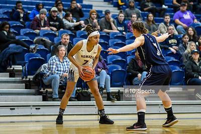 TORONTO, CANADA - Feb 07: during OCCA Womens Basketball Matchup between Humber Hawks vs Niagara Knights at Humber Hawks Athletics Center. Photo: Michael Fayehun/F10 Sports Photography