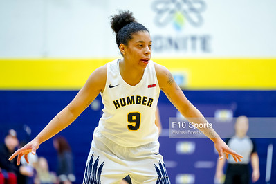 TORONTO, CANADA - Jan 24: during OCCA Mens Basketball Matchup between WBB Humber Hawks vs Conestoga at Humber Hawks Athletics Center. Photo: Michael Fayehun/F10 Sports Photography
