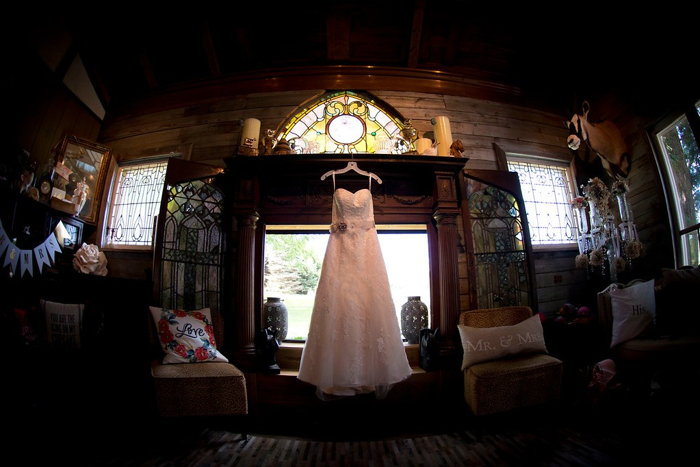 Bridal suite detail at Gillbrook Farms