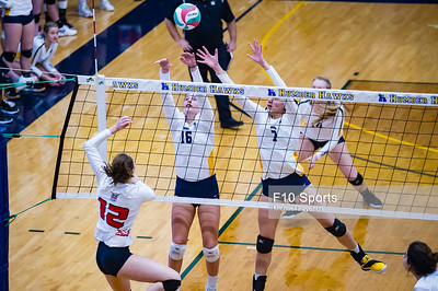 TORONTO, CANADA - Dec 29: during 2018 Humber Classic Women's Volleyball Invitational Match between Humber vs Mon Petit at Humber Hawks Athletics Gym. Photo: Michael Fayehun/F10 Sports Photography