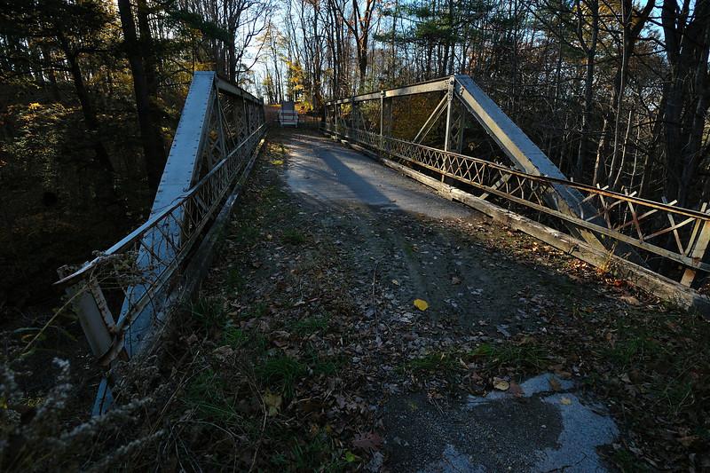 Closed bridge over Wildcat Gully near Tuscarora.  Nikon D5000 (October 2010).