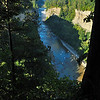 Looking down from Inspiration Point in Letchworth State Park.  Nikon D5000 (August 2010).
