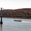 Barge under the Mid-Hudson bridge