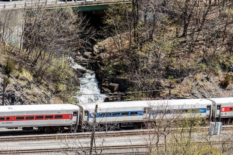 Poughkeepsie Waterfalls by the railroad tracks
