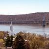 View of the Mid-Hudson bridge from Poughkeepsie