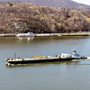 Barge heading south on the Hudson River