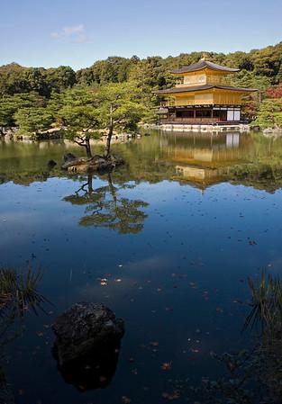 Kinkaku-ji (the golden temple).  Kyoto, Japan