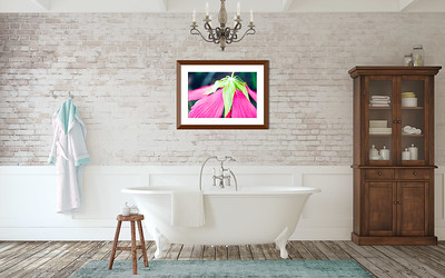 Hibiscus Hat 20 X 30 Framed to 26 X 36 with mat