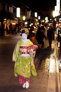 Max print size 12x18.  This is a real Maiko (apprentice Geisha) on her way to an appointment in Kyoto, Japan.