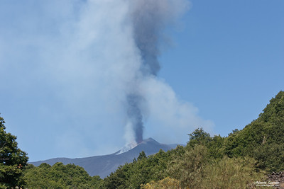 Eruption Etna, Sicilia