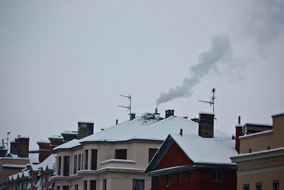 Lyon sous la neige - Toits