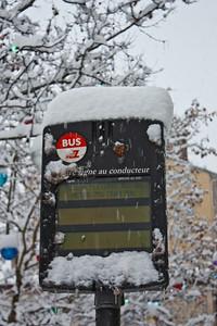 Lyon sous la neige - Trafic perturbé