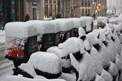 Lyon sous la neige - Sushi Shop