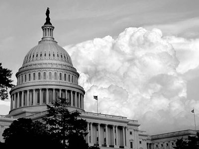 U.S. Capitol with Approaching Thunderheads