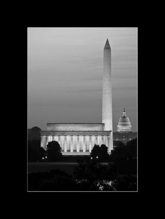 Sunrise over Washington, DC