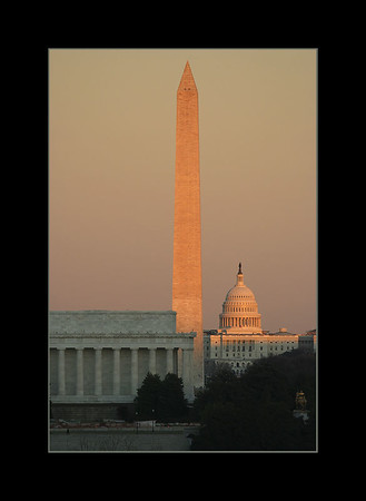 The National Mall at sunset