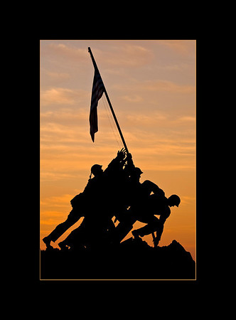 Iwo Jima Memorial, Dawn