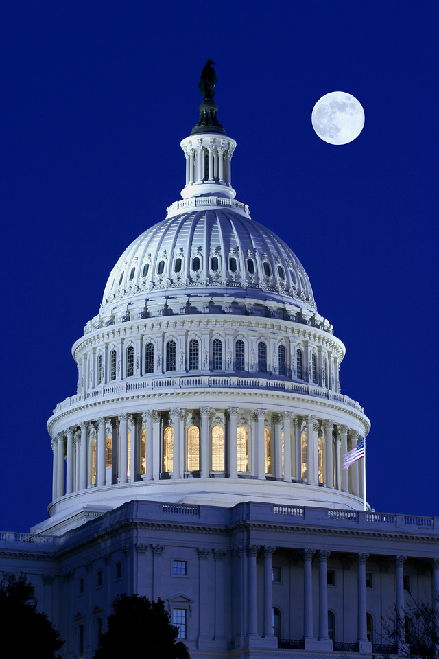Full Moon Over the U.S. Capitol