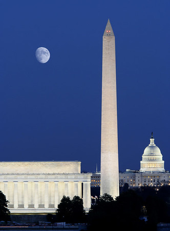 Moonrise Over the National Mall