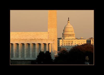 Sunset over Washington, DC