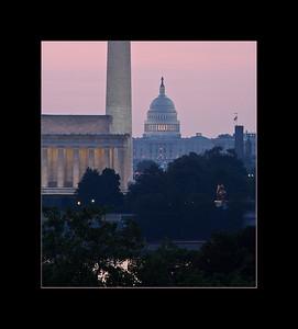 Lincoln Memorial, Washington Monument, U.S. Capitol