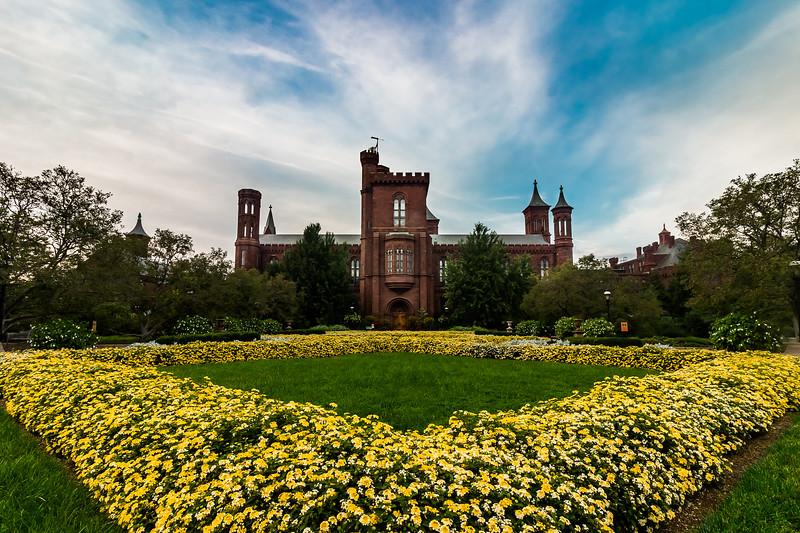 Smithsonian Castle in Bloom
