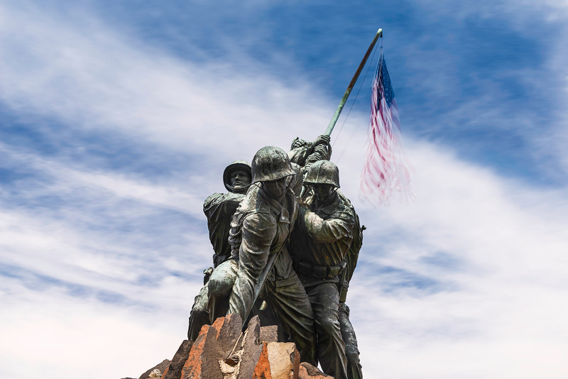 """<center> <br><font><b>""""Ghosts of Iwo Jima"""" - Marine Corps Memorial, Washington, D.C.</b> </font> <br><font> <u>Recommended Print sizes*</u>:  4x6  