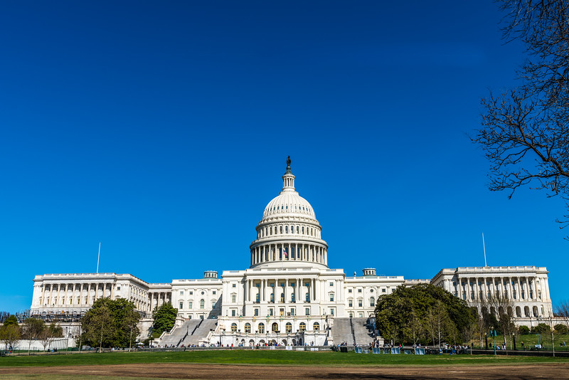 Sun Shines on the US Capitol Building