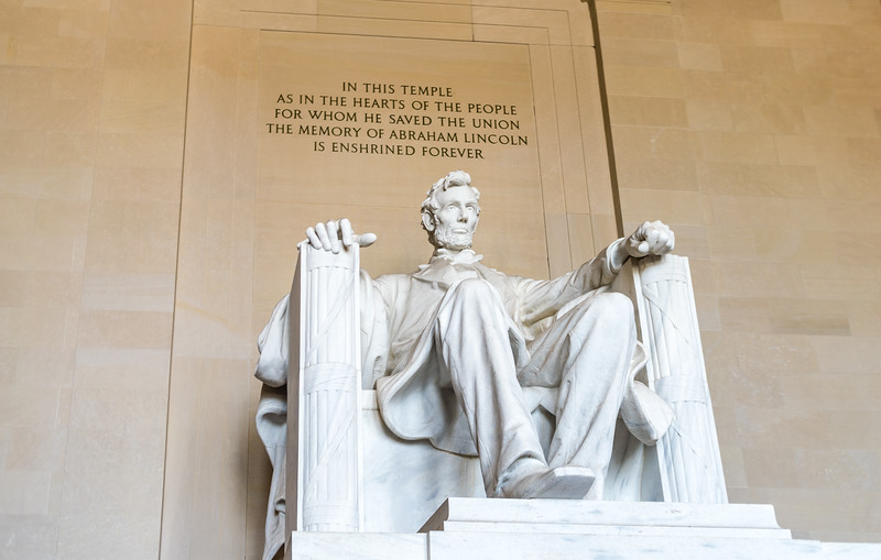 Lincoln in His Temple