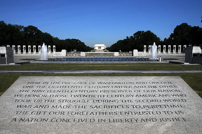 World War II Memorial and Lincoln Memorial