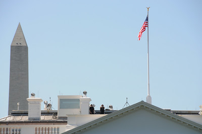 Observers on the White House roof