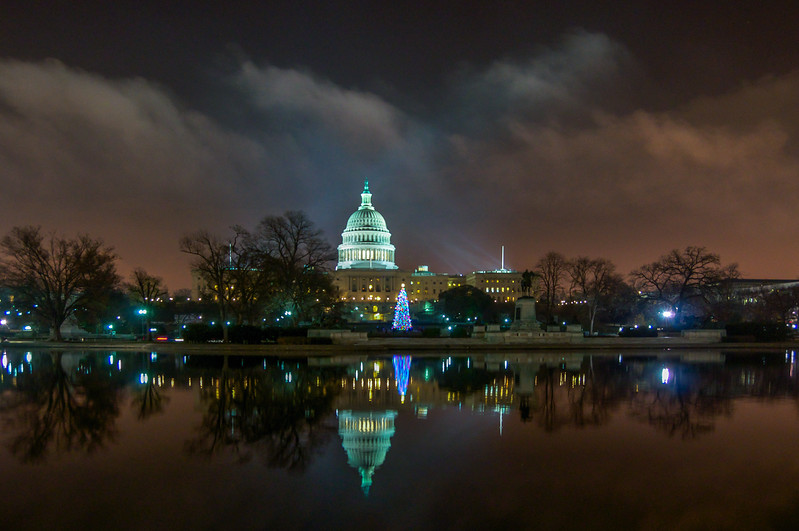 Clouds Over the US Capitol