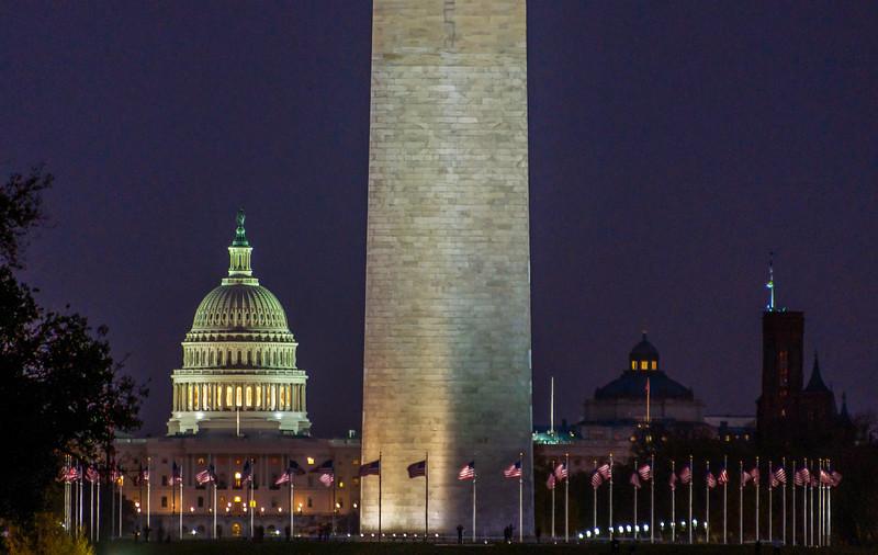 Dusk Descends on the Nation's Capitol