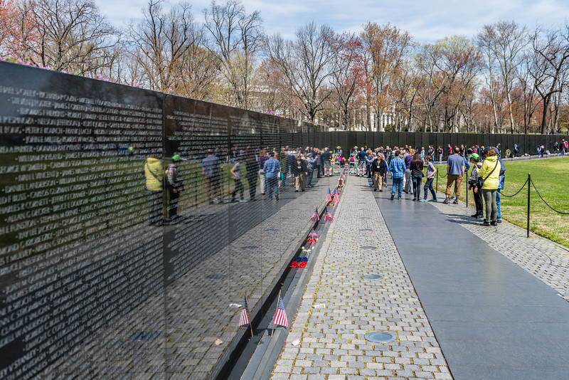 Visitors at the Vietnam Memorial