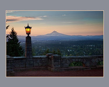 Mt. Hood from Portland's Rocky Butte Park.